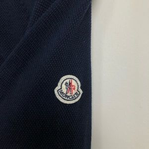 Moncler knitwear navy pullover mens